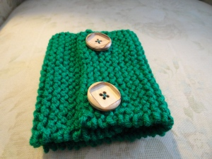 Knitted Coffee Cozy (2)